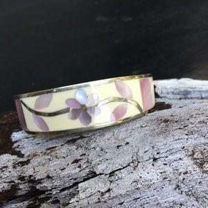 Sterling silver & abalone cuff bracelet